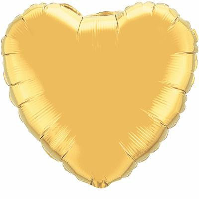 "Foil Balloon 36"" - Heart (Gold)"