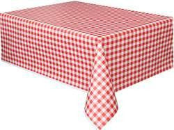 Printed Tablecover - Gingham Red