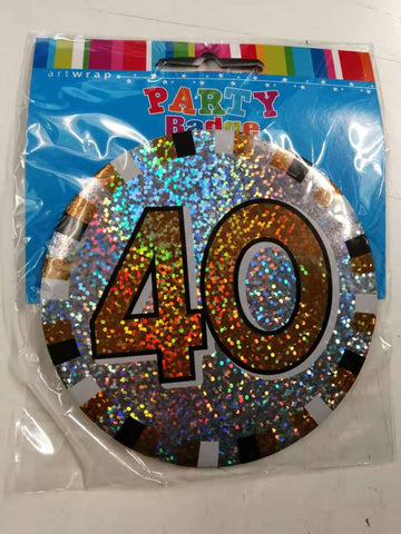 Badge - 40th Birthday Large 1PK