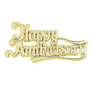 Cake - Happy Anniversary Plaque (Gold or Silver)
