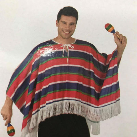 Costume - Adult Mexican Poncho only