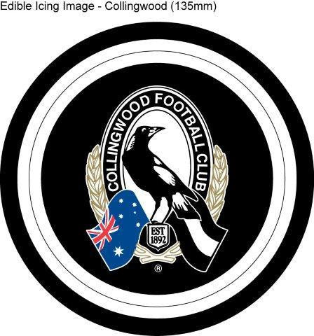 Edible Icing Image - AFL Collingwood Magpies