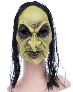 Regina Witch Face Mask with Hair