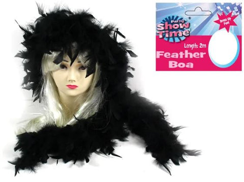 Black  2m feather BOA
