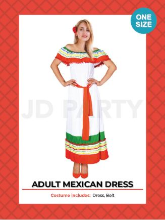 Costume - Adult Mexican Dress