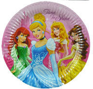 "Printed Plates 9"" - Disney Princess Pk 8"