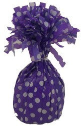 Balloon Weight - Purple Polka Dot