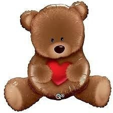 Foil Balloon Supershape - Teddy Bear Love