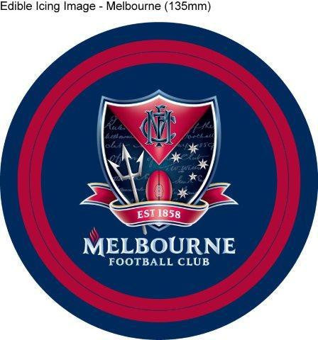 Edible Icing Image - AFL Melbourne Demons