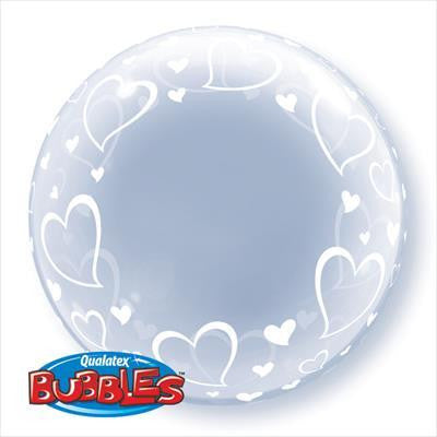 "Bubble Balloon 24"" - Deco Stylish Hearts"