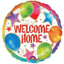 "Foil Balloon 17"" - Welcome Home Celebration"