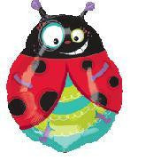 Foil Balloon Supershape - Ladybug Crazy