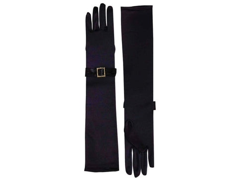 Gloves - Vintage Hollywood with Buckle Black