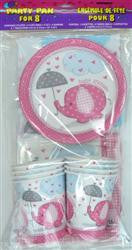 Party Pack - Baby Shower Elephant (Pink)