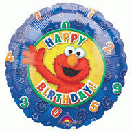 "Foil Balloon 18"" - Elmo Happy Birthday"