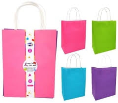 Craft Bag - Coloured Retro Paper Bags