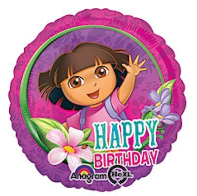 "Foil Balloon 18"" - Dora Birthday"