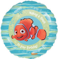 "Foil Balloon 18"" - Birthday Nemo Splash"
