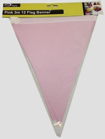 Bunting Flags - Pink Paper 3m