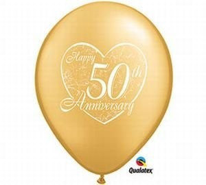 "Qualatex 11"" Print Latex - 50th Anniversary Heart"