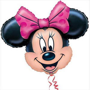 Foil Balloon Supershape - Minnie Mouse Head