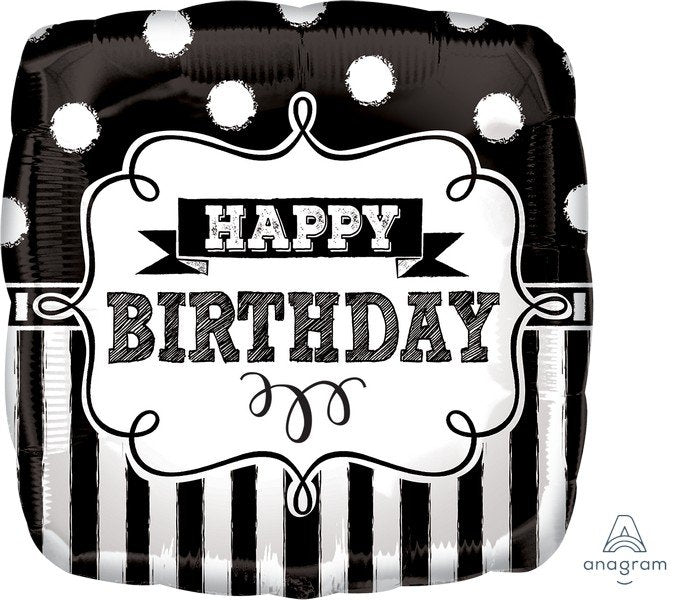 "Foil Balloon 18"" - Chalkboard HBD Party"