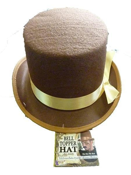 Top Hat - Steam Punk Bell Topper (Brown)