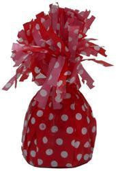 Balloon Weight - Red Polka Dot