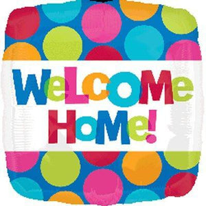 "Foil Balloon 17"" - Welcome Home Colourful Spots"