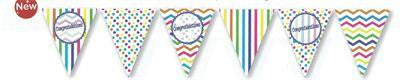 Bunting Flags Paper - Congratulations