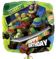 "Foil Balloon 17"" - Teenage Mutant Ninja Turtles Birthday"