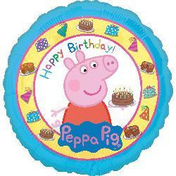 "Foil Balloon 17"" - Peppa Pig Birthday"