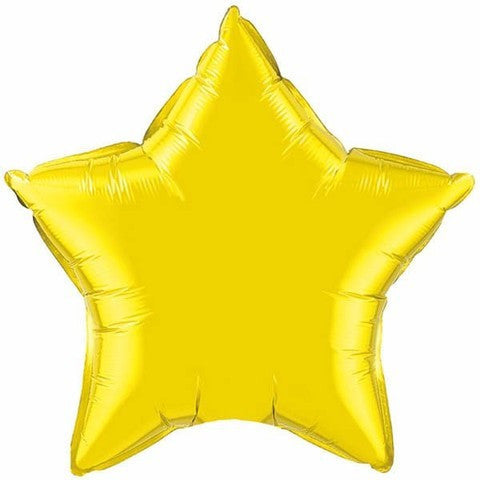 "Foil Balloon 20"" - Star (Yellow)"