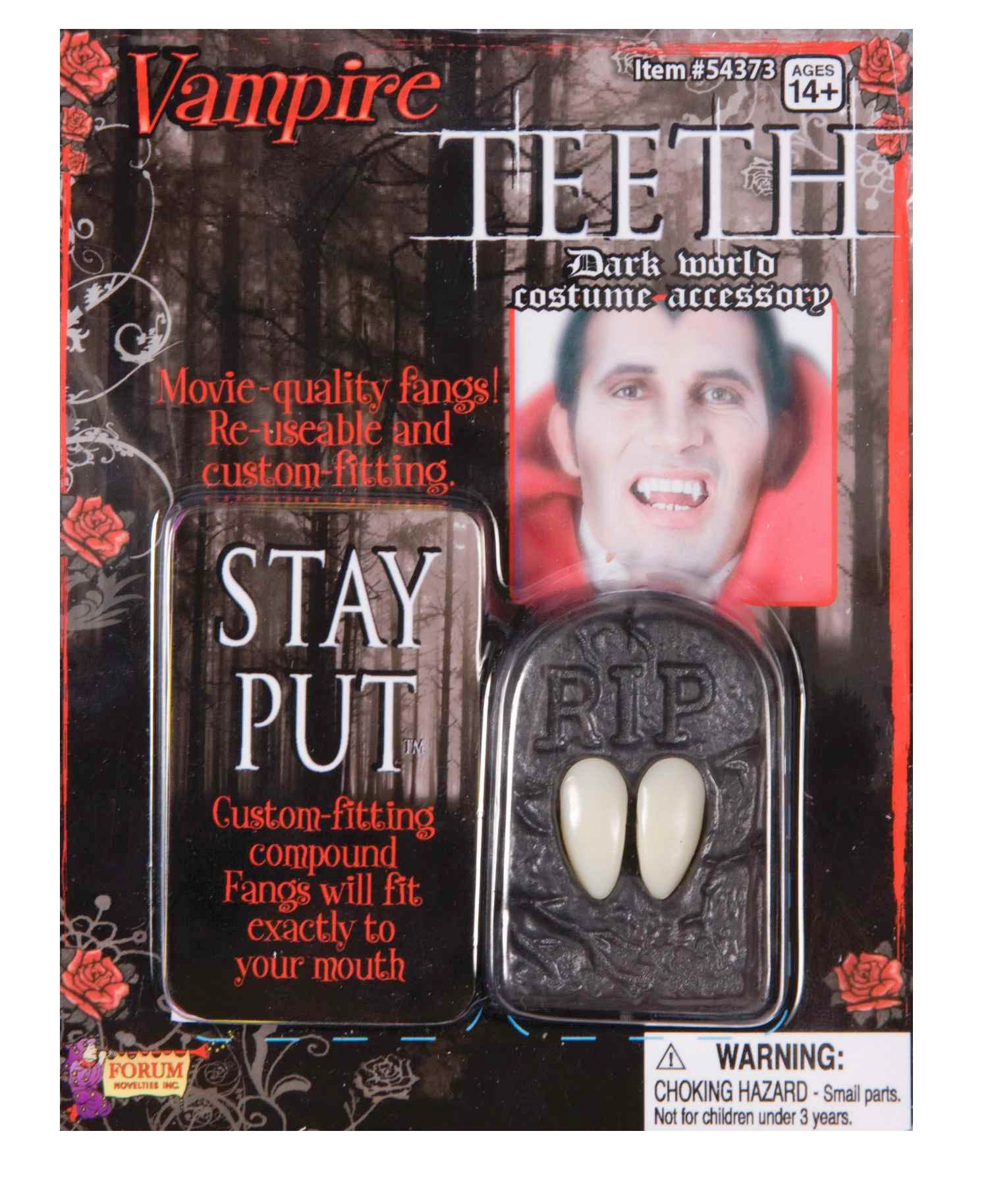 Teeth - Vampire Fangs in Coffin w/Putty