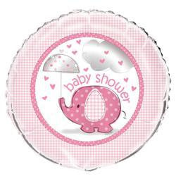 "Foil Balloon 18"" - Baby Shower Elephant Pink"