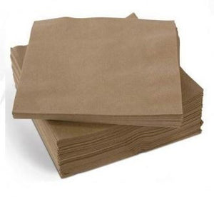 Lunch Napkins 2 Ply - Eco Brown Pk 30