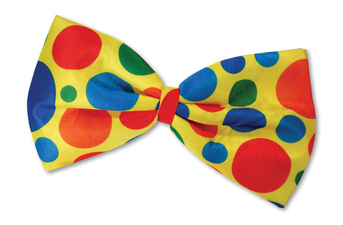 Accessories - Clown Bow Tie Polka Dots (Rainbow)