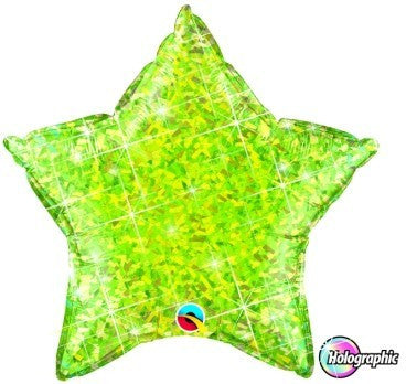 "Foil Balloon 20"" - Holographic Star (Lime Green)"
