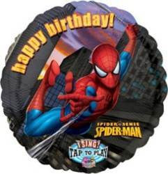 Foil Balloon Singing - Spiderman