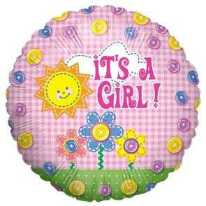 "Foil Balloon 18"" - It's A Girl Buttons"