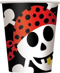 Printed Paper Cups - Pirate Fun Pk 8