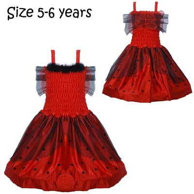 Costume - Deluxe Lady Bug Dress w/Wings