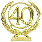 Cake - 40th Wreath Plaque (Gold or Silver)