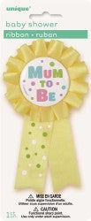 Award Ribbon - Mum To Be (Yellow)