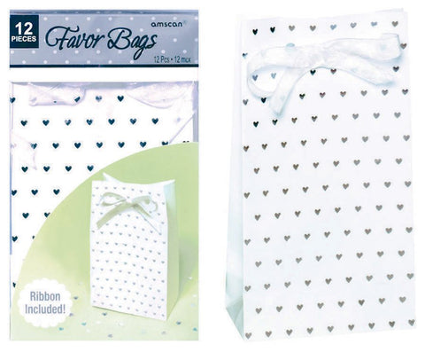 Favor Bags - Silver Tender Love Paper Bag