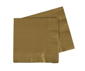 FS Lunch Napkin 330mm Met Gold