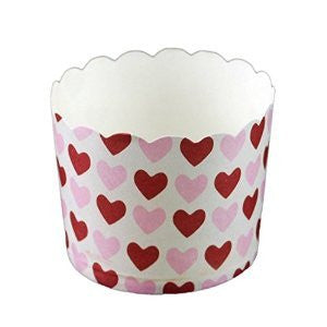Baking Cups Small - Hearts Pk 25