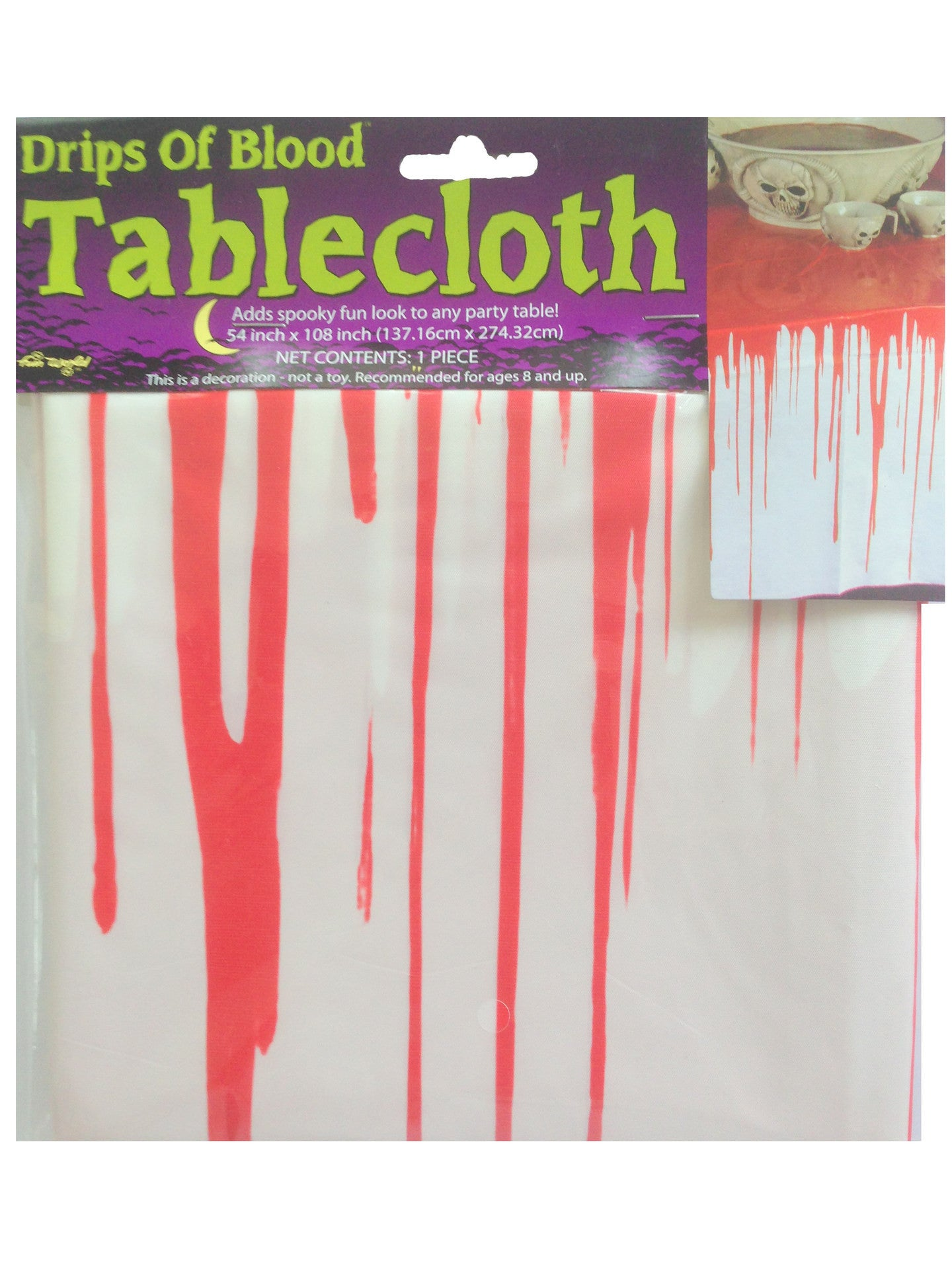Printed Tablecover - Drips of Blood