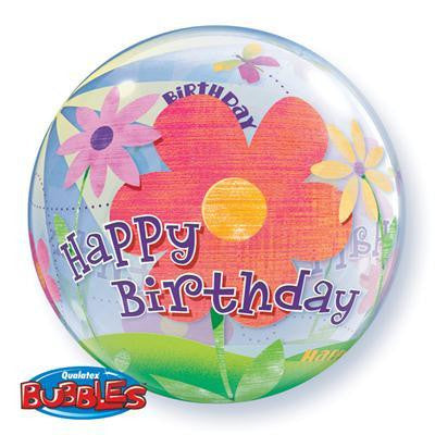 "Bubble Balloon 22"" - Birthday Funky Flowers"