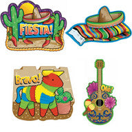 Cut Outs - Fiesta Large Pk 4